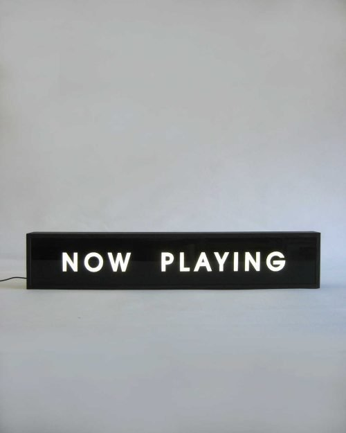 NOW PLAYING Sign