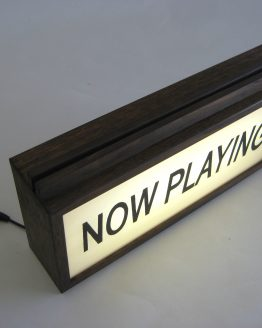 "Vinyl Record Holder ""Now Playing"" Vintage Wooden Lightbox"