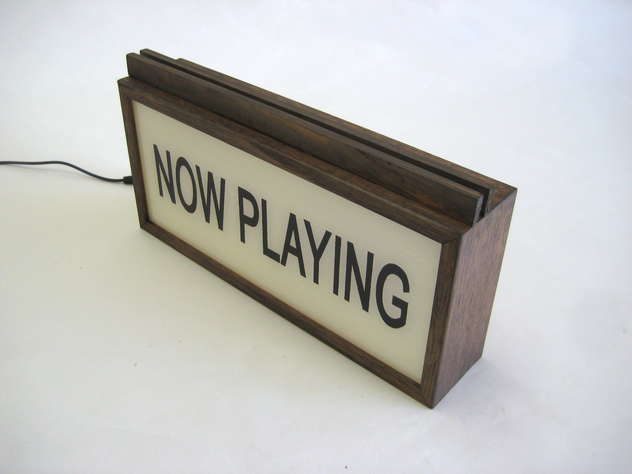 Now Playing Wooden Vinyl Record Stand Holder Bingkai