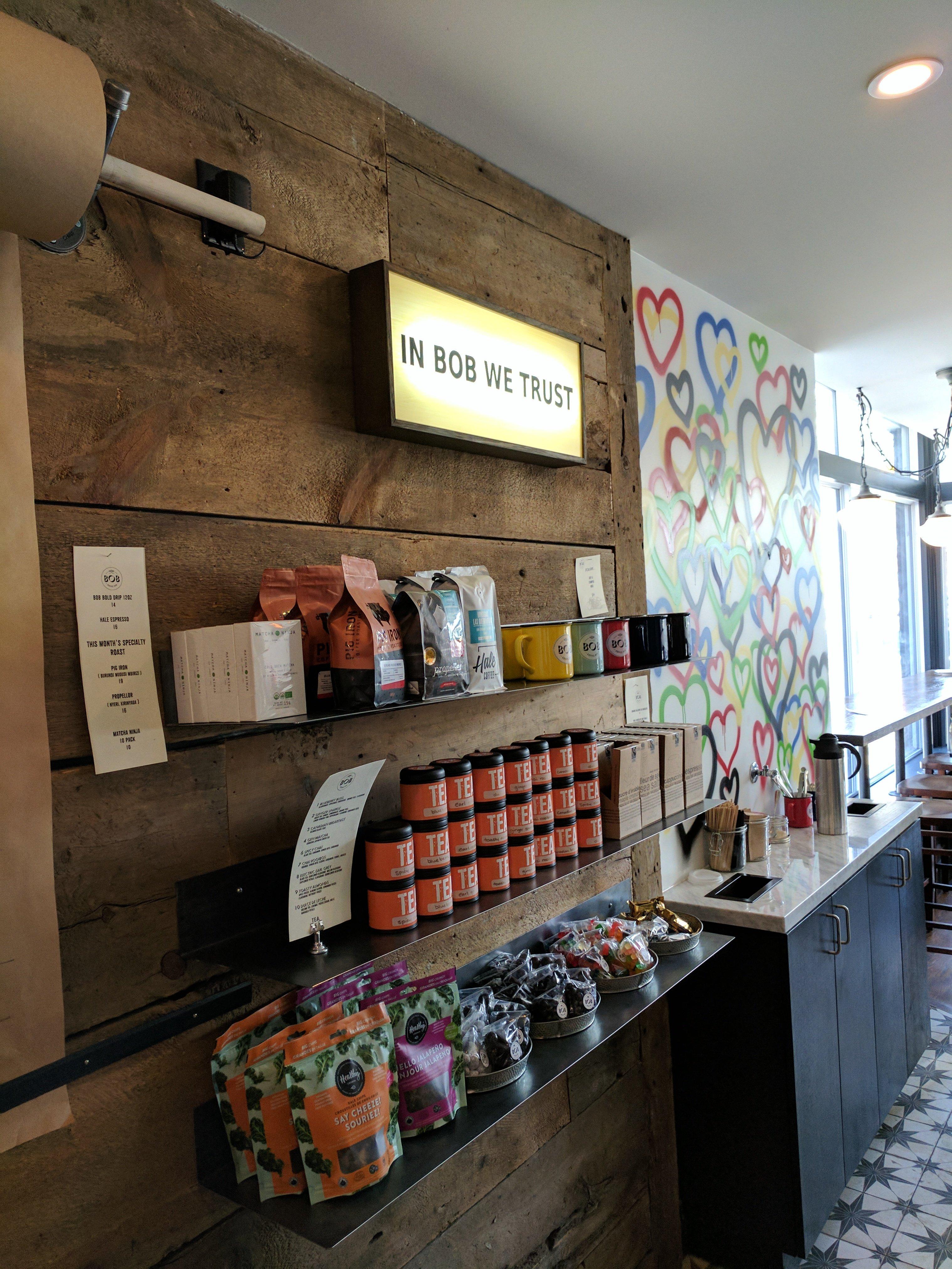 Custom Lightbox Sign for Bob Coffee Bar