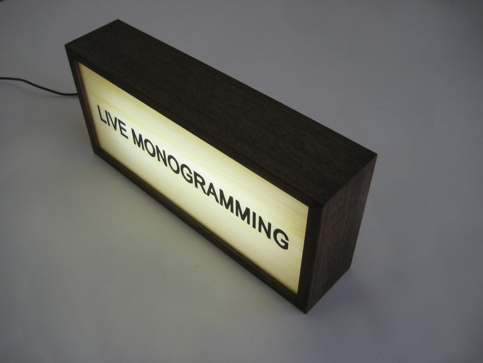 Custom Lightbox Hand Painted Signs Live Monogramming