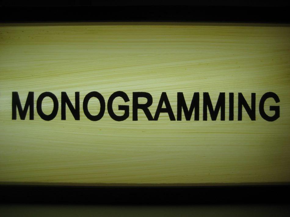 Custom Light Box Live Monogramming