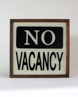 Hand Painted NO VACANCY Sign Vintage Wooden Light box