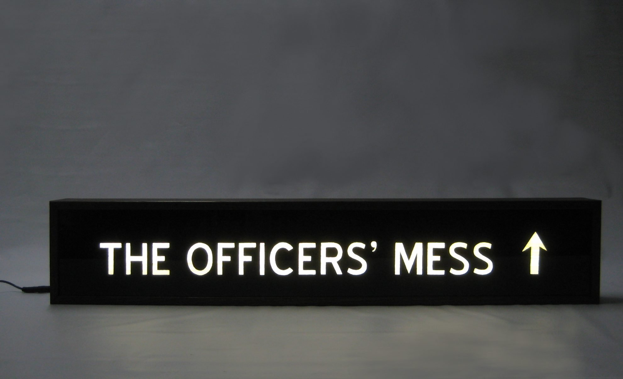 Custom Hand Painted Signs Lightbox THE OFFICERS MESS