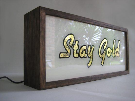 lightbox-gold-leaf-sign-gold-gilded-stay-gold