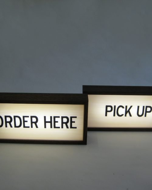 ORDER HERE and PICK UP Sign