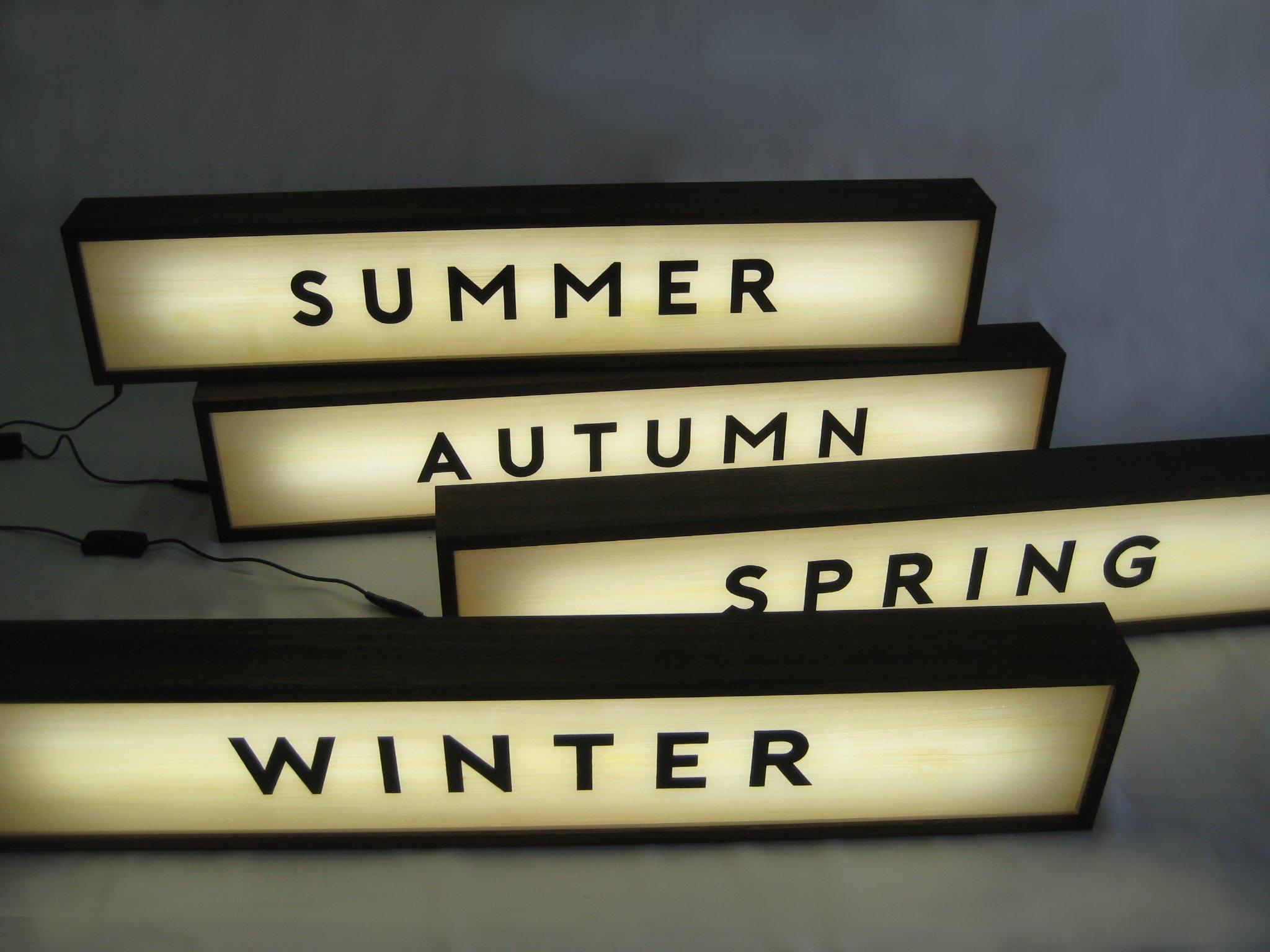 Custom Lightbox Signs 4 Seasons