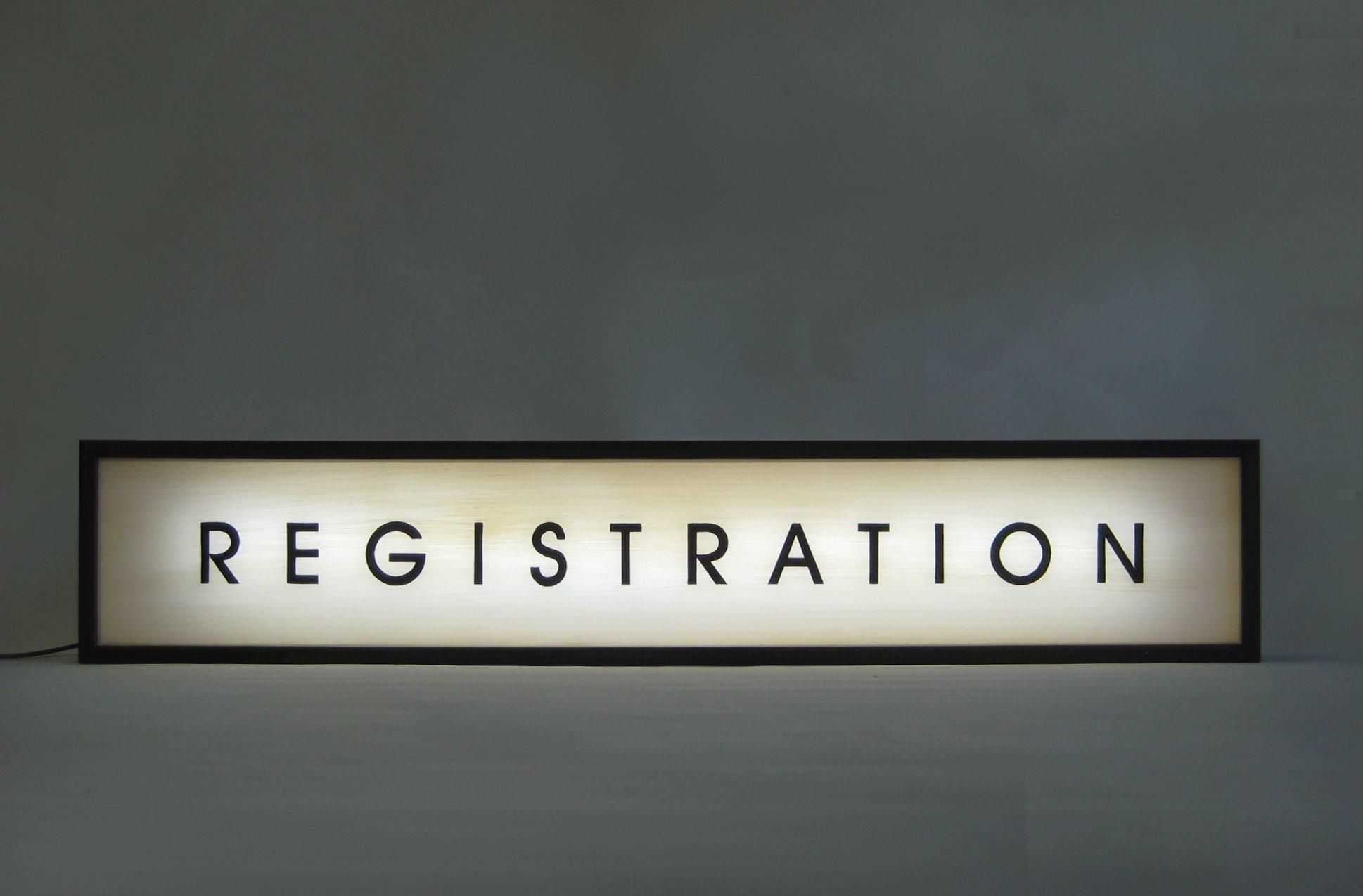 Custom Order Hand Painted Sign Lightbox Registration
