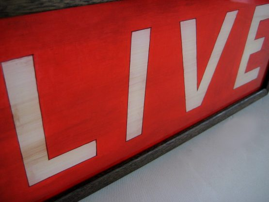 live hand painted lightbox sign