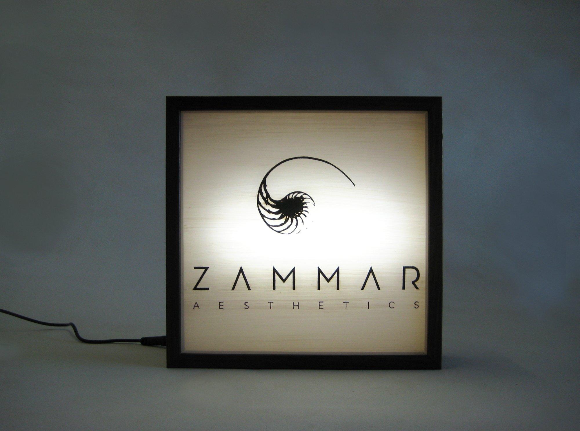 custom logo lightbox sign zammar