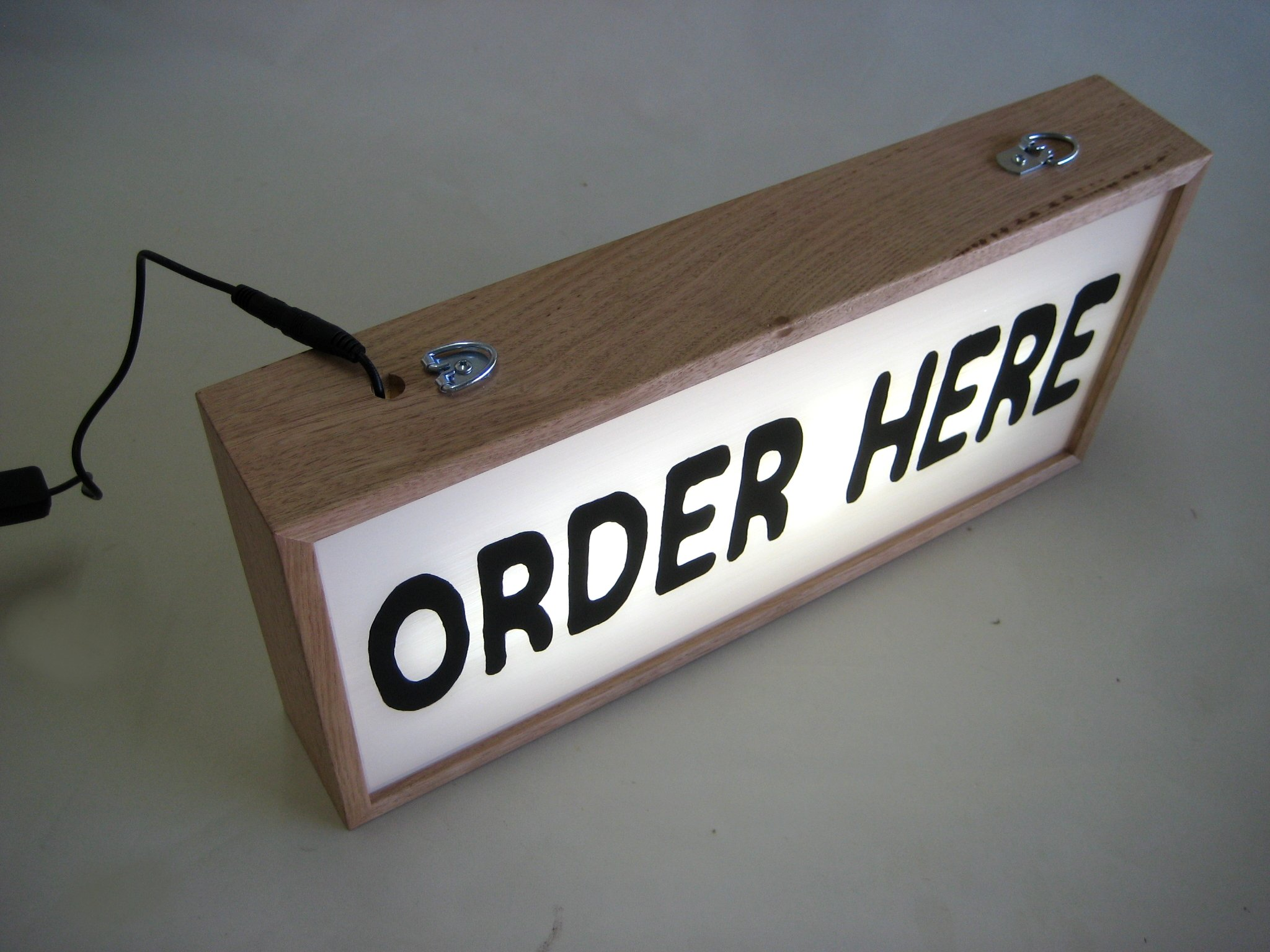Custom Lightbox Hand Painted ORDER HERE Signs with Ceiling Hanging Hook