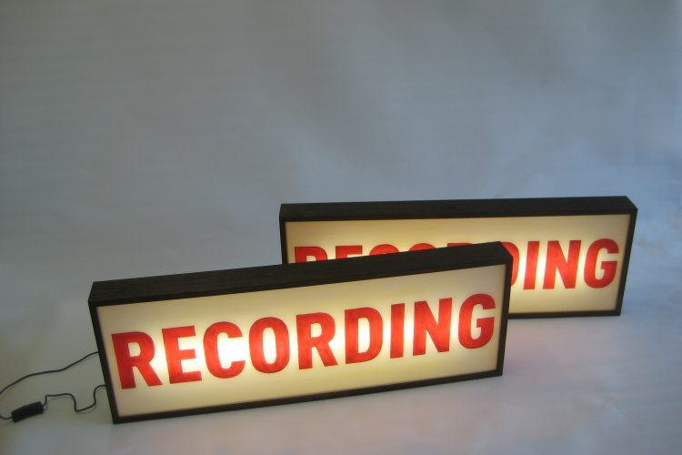 custom light box recording signs for tv series the recording studio