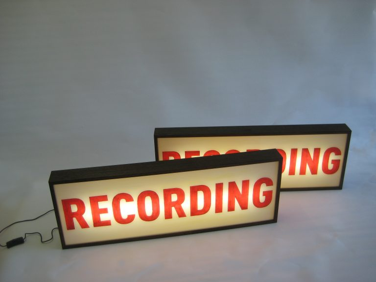 Custom Light Box RECORDING For Upcoming TV Series