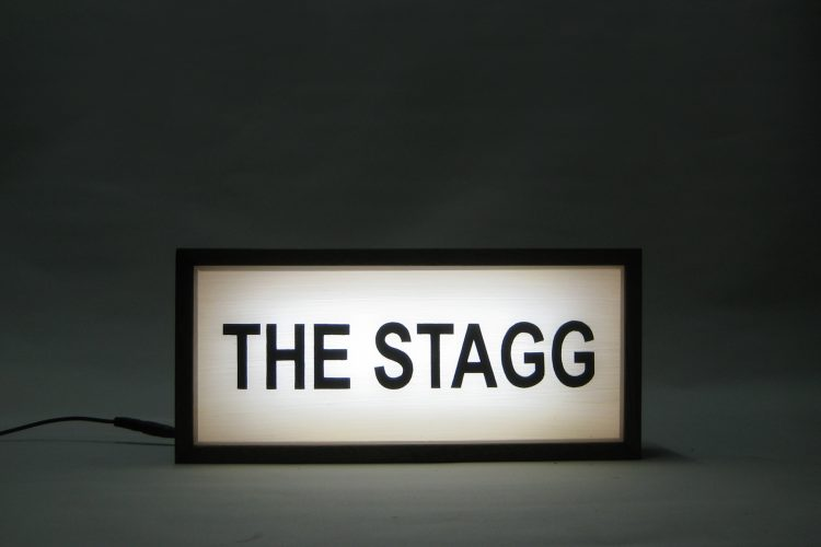 Custom Light Box Family Name The Stagg
