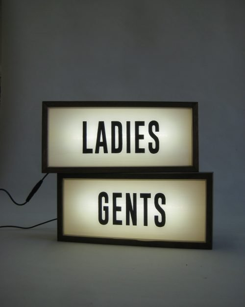 Set of LADIES and GENTS Sign