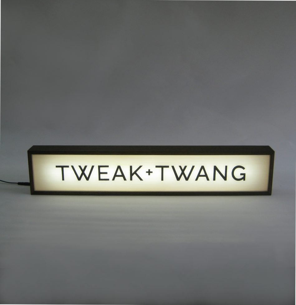 custom lightbox signs for tweak and twang